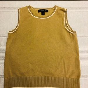 Josephine Charles women's gold knit shell